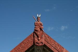 Maori carving, Wairoa New Zealand