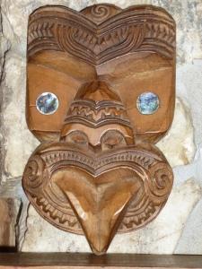Maori  teko carving