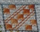 orange fan stitch