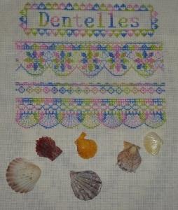 Seashells and blackwork scallops