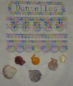 Seashells and blackwork scallops