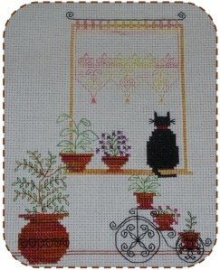 Seba Designs Cat in Window framed