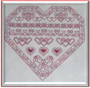 Blackwork Hearts for Valentine's Day