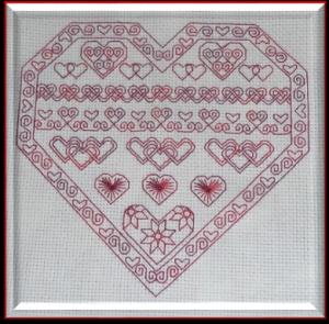 Blackwork Hearts for Valentine's Day
