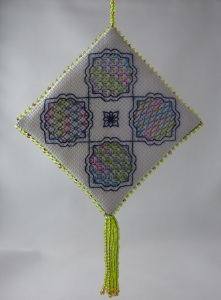 Beaded Blackwork Ornament - side two