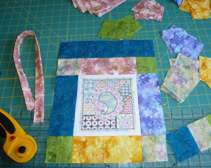 zentangle-and-fabric-strips