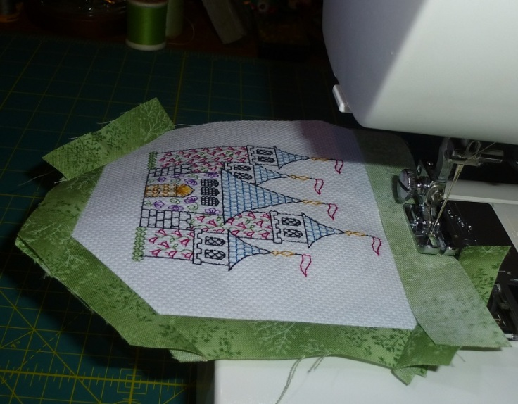 sewing border on castle